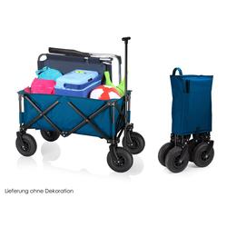 Campart Bollerwagen, klappbar mit Luftreifen Klappbollerwagen faltbar für Kinder, Strand, Garten & Vatertag Faltbollerwagen