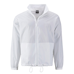Herren Windbreaker | James & Nicholson white M