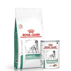 ROYAL CANIN Vet Dog Diabetic 12 kg + 12 x Diabetic 410g