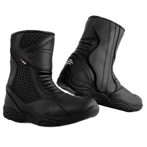 Niedrige Stiefel Motorradstiefel Wasserdicht Schuhe Sport Low Boots Schwarz 45