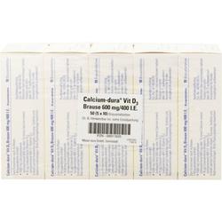 CALCIUM DURA Vit D3 Brause 600 mg/400 I.E. 50 St.