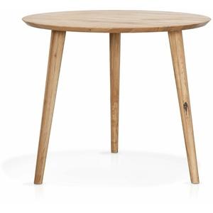 Moebel-Eins Esstisch, ASCON Esstisch, rund, Material Massivholz, Wildeiche