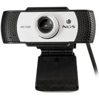 NGS XPRESSCAM720 - HD 1280x720 Webcam mit USB 2.0 Anschluss, integriertem Mikrofon, realer 1Mpx Auflösung und Plug&Play