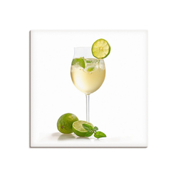 Artland Wandbild Weinglas - Hugo, Getränke (1 Stück) 30 cm x 30 cm