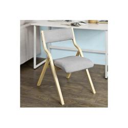SoBuy Klappstuhl FST40 Küchenstuhl mit gepolsterter Sitzfläche und Lehne grau