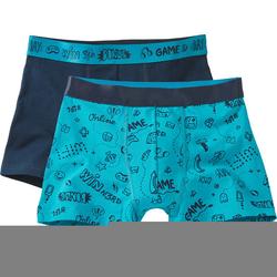 Boxershorts, blau, Gr. 152/158 - 152/158 - blau