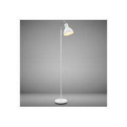 B.K.Licht LED Stehlampe, LED Stehleuchte Industrial Design Stand-Leuchte schwenkbar Metall E27 weiß