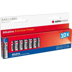 AgfaPhoto Batterie Alkaline, Micro, AAA, LR03 Batterie, (1,5 V)