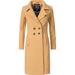 Navahoo Wintermantel Wooly edler Damen Trenchcoat in Wollmantel-Optik braun XL (42)