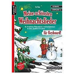 Meine schönsten Weihnachtslieder für Keyboard!. Jens Rupp  - Buch