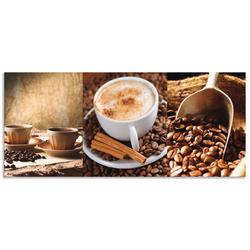 Artland Küchenrückwand Kaffee - Cappuccino - Heißer Kaffee, (1-tlg) 140 cm x 60 cm x 0,3 cm