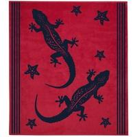 Delindo Lifestyle Tropical Gecko Strandtuch 180 x 200 cm rot