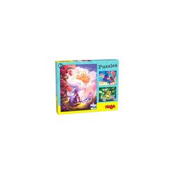 Haba Puzzle HABA 305917 Puzzle Im Fantasieland, 3 x 48 Teile, Puzzleteile