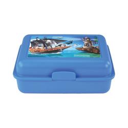 United Labels® Brotschale Brotdose Playmobil Feuerwehr blau