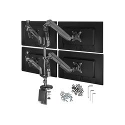 tectake Monitor Tischhalterung für 4 Monitore von 13