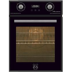 Kaiser Küchengeräte Einbaubackofen KAISER EH 4747, mit 1-fach-Teleskopauszug, Einbaubackofen 45 cm schwarz Glas, Autark, 50 L, 9 Funktionen,Easy clean-Emaille
