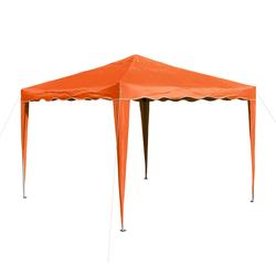 Pavillon Gartenpavillon Faltpavillon Alu/Metall 3x3m orange Garten Partyzelt