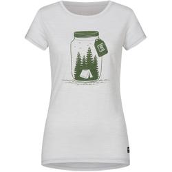 SUPER.NATURAL PRINTED T-Shirt 2020 light grey melange/millitarycamping jar - L