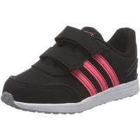 adidas VS Switch Sneaker, Core Black/Signal Pink/Glory Grey, 18
