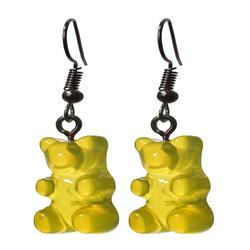 Eyecatcher Ohrring-Set Bärenohrringe. Hakenohrringe. gelb