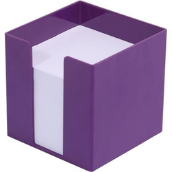 Zettelbox 9,5x9,5x9,5cm 700 Blatt weißes Papier berry-violett