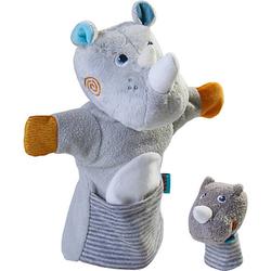 HABA 305755 Handpuppe Nashorn mit Baby bunt
