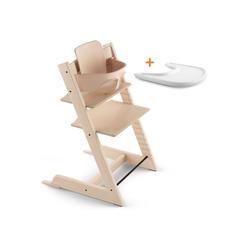Stokke Hochstuhl TRIPP TRAPP® Sonderaktion - Set bestehend aus TRIPP TRAPP® Stuhl, Baby Set und STOKKE® TRAY natur