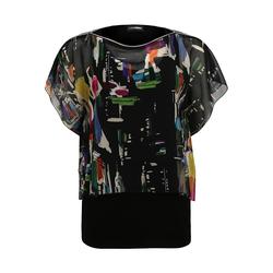 Bluse mit buntem Überwurf Doris Streich multicolor