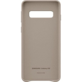 Samsung Leather Cover EF-VG973 für Galaxy S10 grau