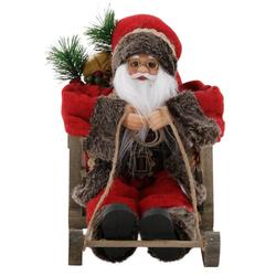 Weihnachtsmann, auf Schlitten, Höhe ca. 27,5 cm
