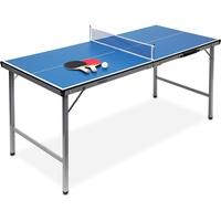 Relaxdays Klappbare Tischtennisplatte, blau