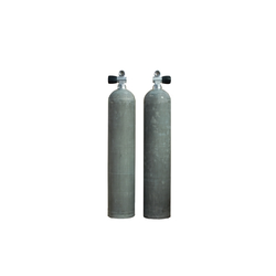 MES Alutauchflasche - Alutank - Dirty Beast - 11.1 Liter - 207 bar - Ventil 12544-RE mit Handrad rechts