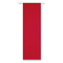 Vorhang, Arsvita, Paneelwagen, Blickdichte Schiebegardine 60cm x 245cm (BxL), mit Klettband rot