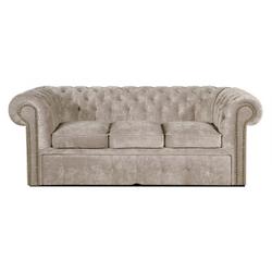 Casa Padrino 3er Sofa Grau 210 x 100 x H. 78 cm - Luxus Chesterfield Schlafsofa