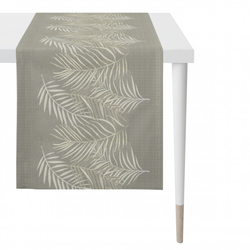 Tischläufer Leinen graubeige (BL 48x140 cm) APELT