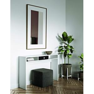 Modern Loft Sally B6 Konsolentisch Pure, Holz veredelt, weiß/schwarz, 120x28x79,2 cm (W-D-H)