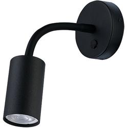 Licht-Erlebnisse Wandleuchte EYE Wandlampe Schwarz mit Schalter flexibel Leselampe Bett Sofa Lampe