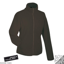Damen Fleecejacke | James & Nicholson braun XXL
