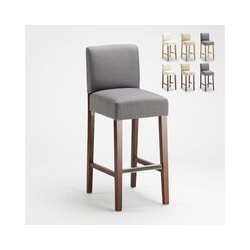 Barhocker Holzküche Henriksdal Stil Hoch 74 cm Comfort Xl | Grau