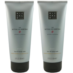 Rituals The Ritual of Samurai Hair & Body Wash 2 x 200 ml Showergel Duschgel Set