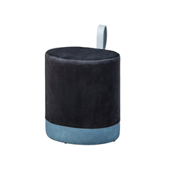 ebuy24 Pouf Osana Fusshocker, Hocker schwarz und blau.