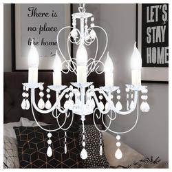 etc-shop Kronleuchter, Kronleuchter Filament Hänge Lampe Kristall Dimmer Decken Leuchte im Set inkl. LED Leuchtmittel