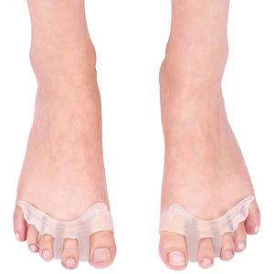 Gel Toe Separator Zehenpolster, Protector Relaxer Separator Fußschmerzlinderung, Hallux Deformity Hallux Valgus Schmerzlinderung und Vorfußkissen