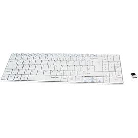 Logilink Bluetooth Funk Slim Tastatur DE weiß (ID0110)