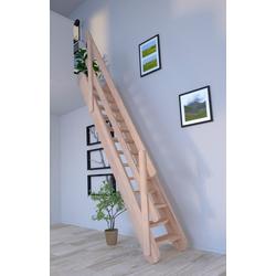 Starwood Raumspartreppe Samos, für Geschosshöhen bis 285 cm, Stufen offen