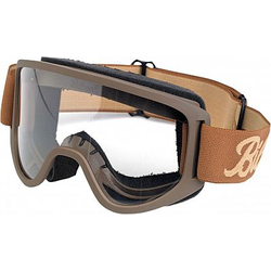 Biltwell Moto 2.0 Crossbrille Herren - Braun Klar - one size