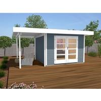 weka Designhaus 126 A grau 300 x 250 cm Anbau 150 cm