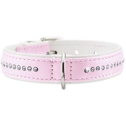Halsband Modern Art Luxus rosa/weiß 32