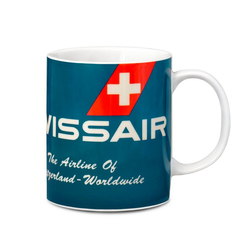 LOGOSHIRT Tasse in coolen Design Swissair rot