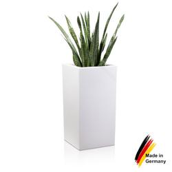 Pflanzkübel TORRE 80 Kunststoff weiß matt